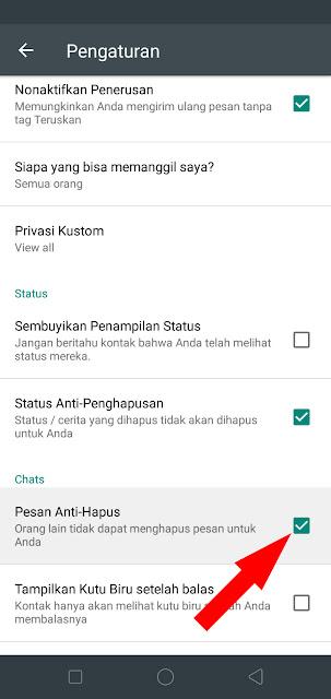 Cara Download dan Akifkan Whatsapp Mod Anti Delete / Hapus Pesan