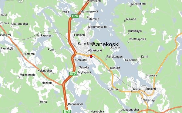 Suomen Kartta Alueellinen Kaupunki Aanekosken Kartta Kaupunki