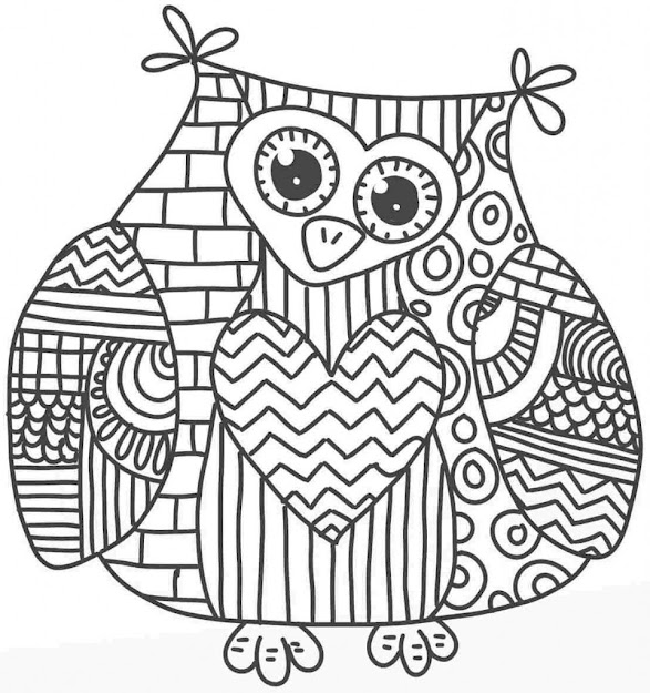 Unique Barn Owl Coloring Pages For Adults Design