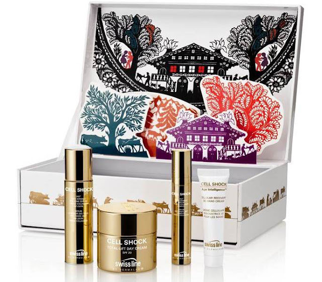 swiss line, Edelweiss Joy, Christmas Coffret, Christmas Set, Cell Shock, Total-Lift Day Cream, 360° Anti-Wrinkle, Eye Zone Serum, Serum Triple Collagen Complex, Age Intelligence, 3D Hand Cream