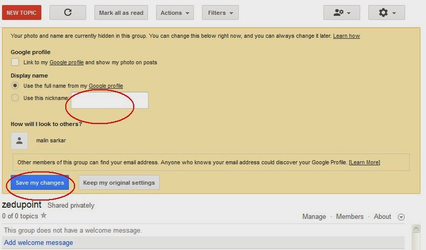 Google Groups as forum