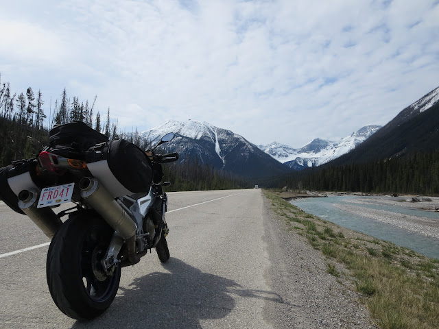 Aprilia Tuono Highway 93 British Columbia