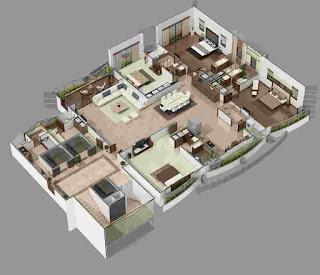 Luxury and Comfort 4 Bedroom House Plans
