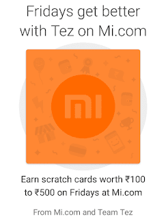 Mi product buy on Tez and earn scratch card