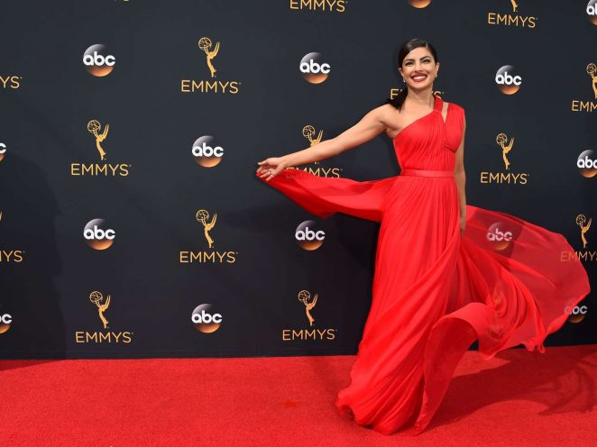 Priyanka Chopra ravishes in red at the 2016 Emmy Awards