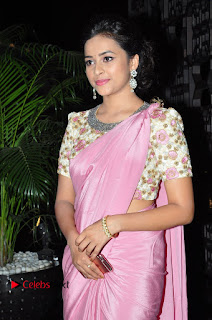 Actress Sri Divya Stills in Saree at Rayudu Movie Audio Launch 0005