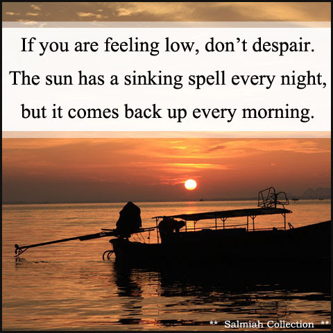 Inspirational Quote 31: If you are feeling low, don't despair