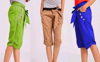 Model Celana Pendek Selutut