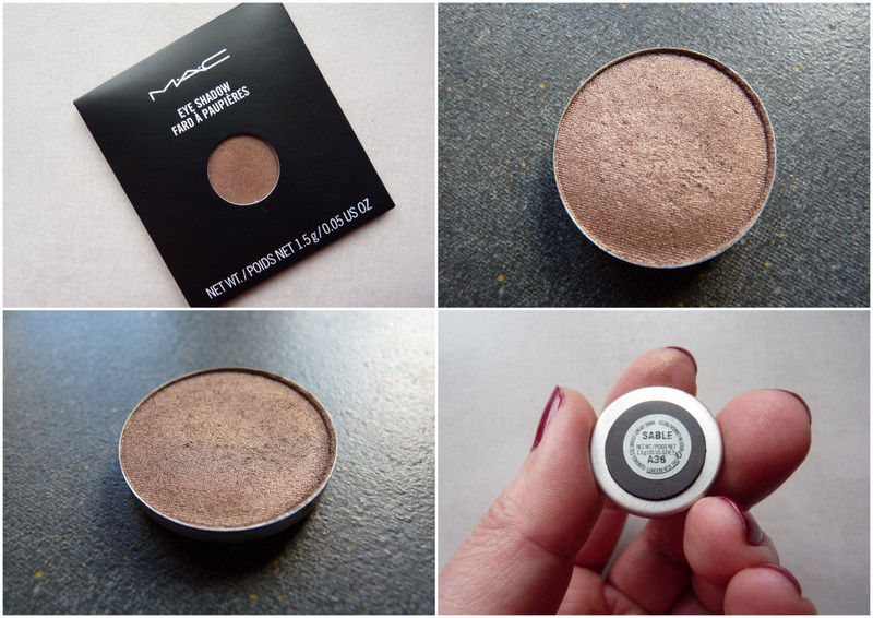 Mac Sable eyeshadow refill pan