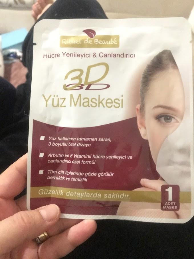 Rituel de Beaute 3D Yüz Maskesi