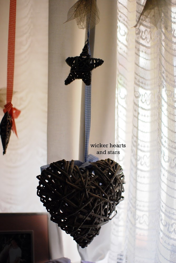 Wicker Wedding Hearts and Stars