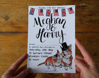 Bespoke Royal Wedding Stationery Invitation by Alice Draws The Line