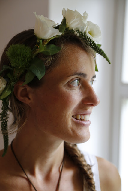 Lady with a flower crown