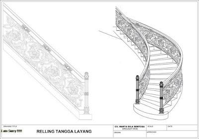 design railing tempa mewah untuk rumah klasik