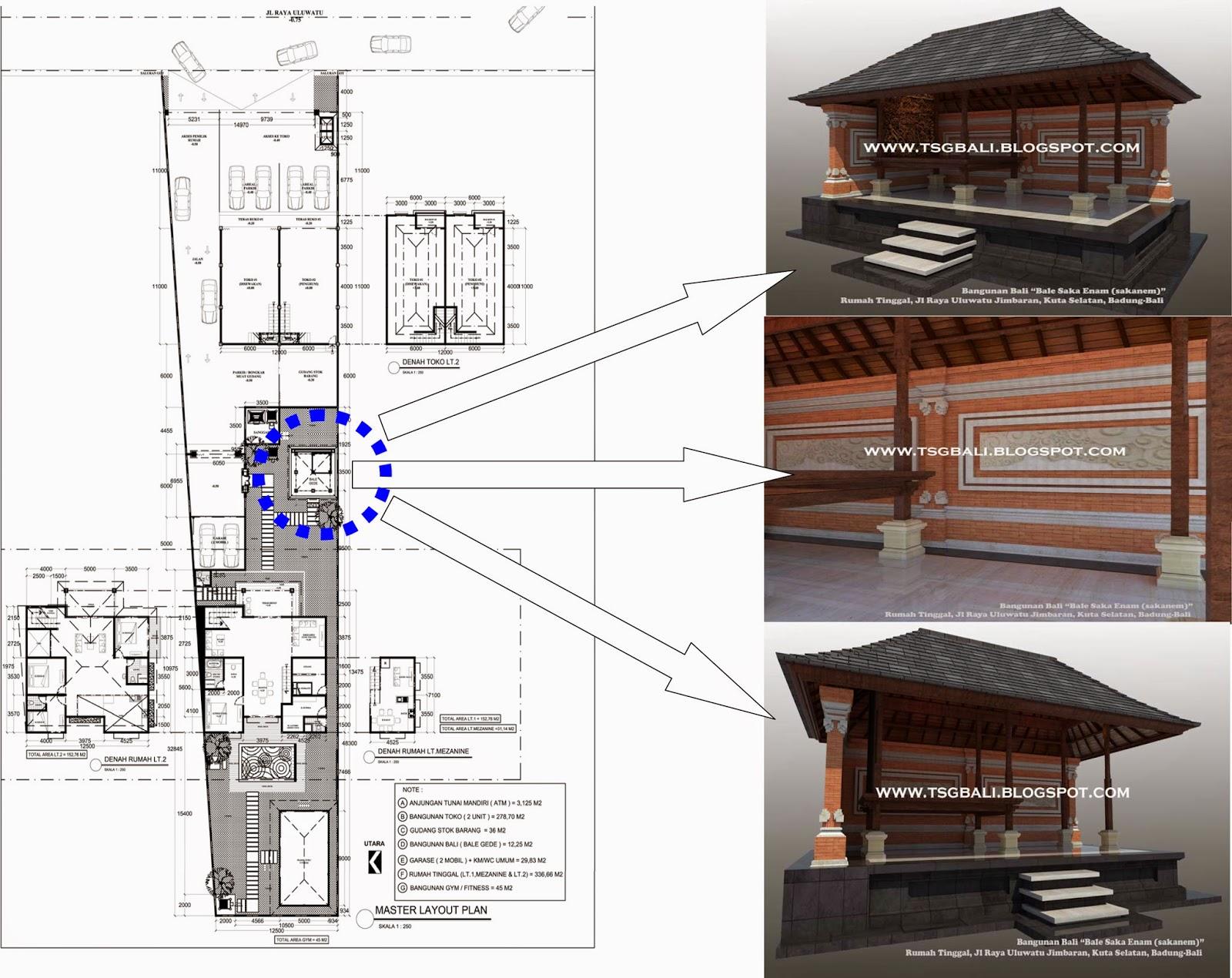 Desain Rumah Bale Bali Bangunan Sakanem Arsitektur Modern Arsitek Tradisional