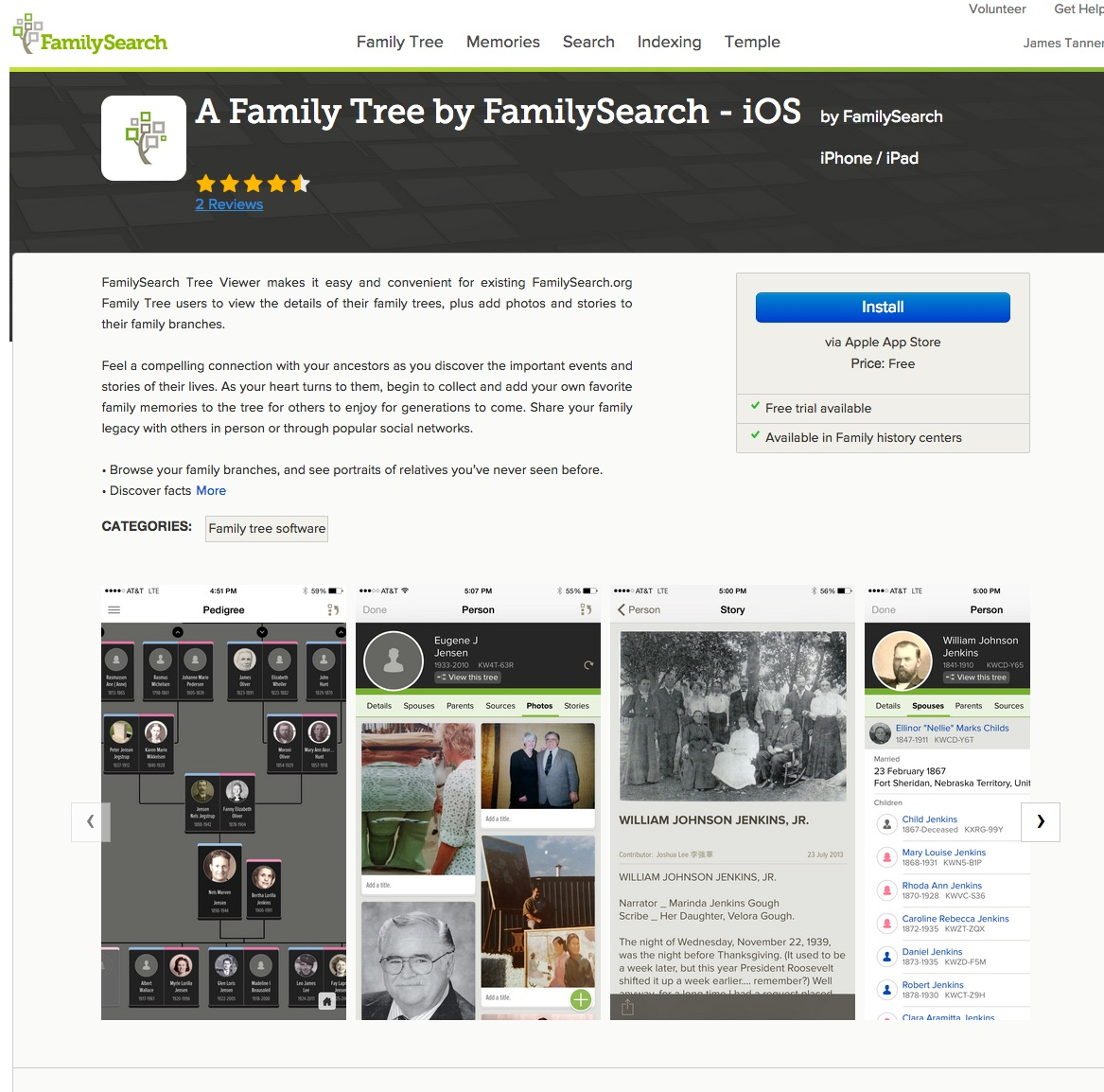 Rejoice, and be exceeding glad   : FamilySearch App Gallery