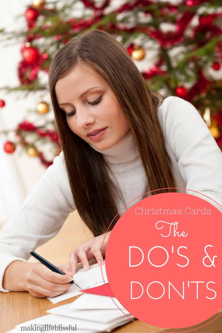 The Do\'s and Don\'ts of Sending Christmas Cards | Making Life Blissful