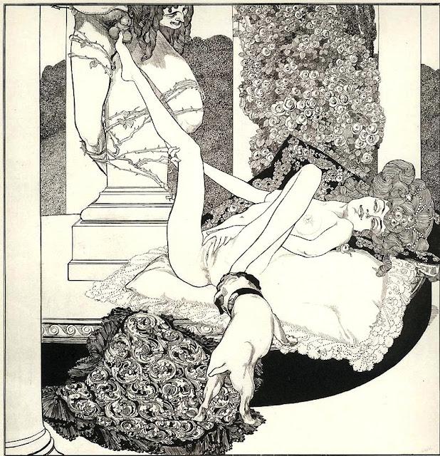 Franz von Bayros - Tantalo - erotismo - sex art - zoofilia