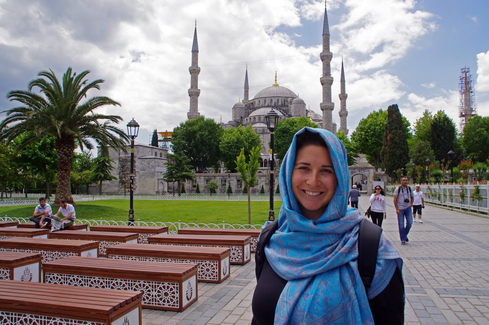 Girl at Blue Mosque