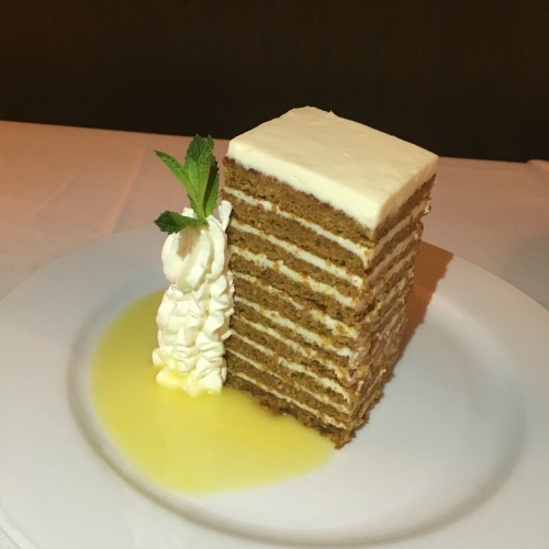 Ocean Prime Boston carrot cake