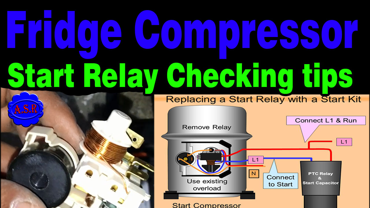 about this video this video in learn fridge compressor wiring and starting relay overload how work and checking defective ya good useful tips tricks for  [ 1280 x 720 Pixel ]