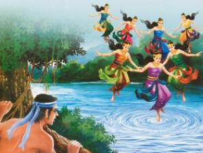 Cerita rakyat jaka tarub dan 7 bidadari dalam bahasa ...