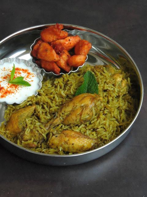 Herbal Chicken Briyani, Mooligai Kozhi Biriyani