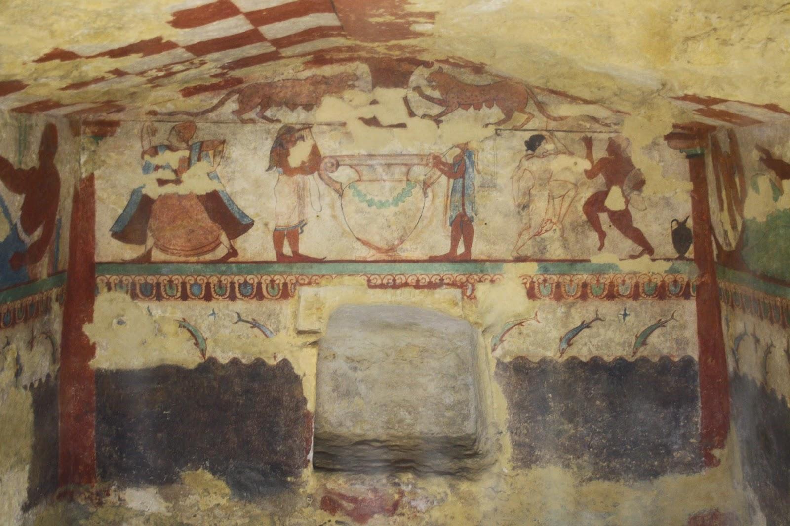 Pinturas Necrópolis etrusca de Tarquinia