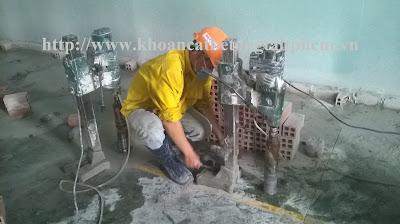 Khoan cắt bê tông tại quận Tân Bình