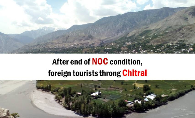 After end of NOC condition, foreign tourists throng Chitral