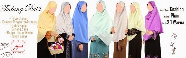 fesyen tudung labuh terkini muslimah moden