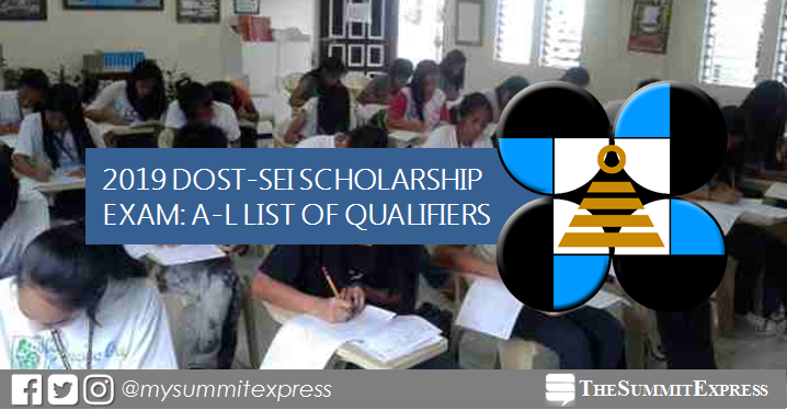 A-L Passers: DOST Scholarship Exam Result 2019