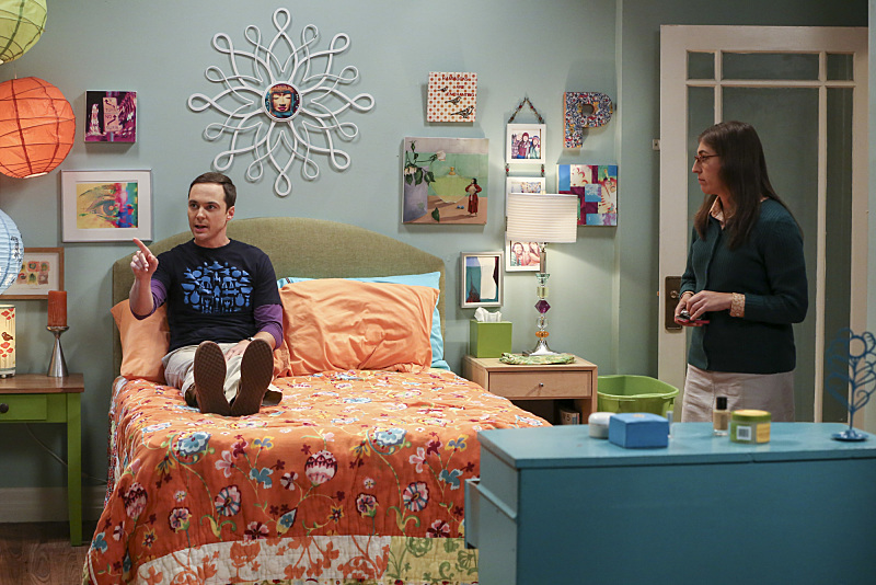 the big bang theory 10x04 Amy y Sheldon comparten piso