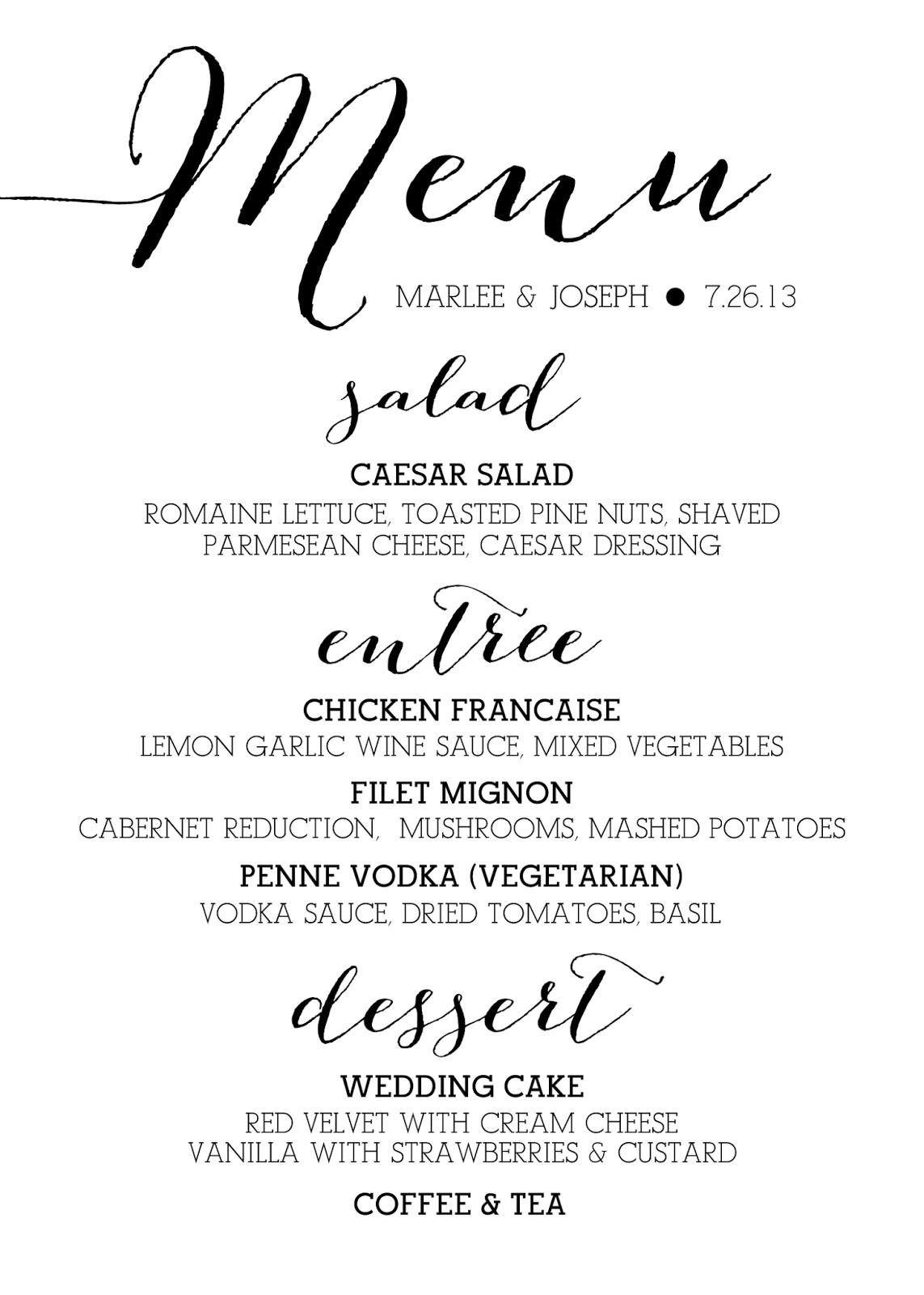Best Restaurant Fonts