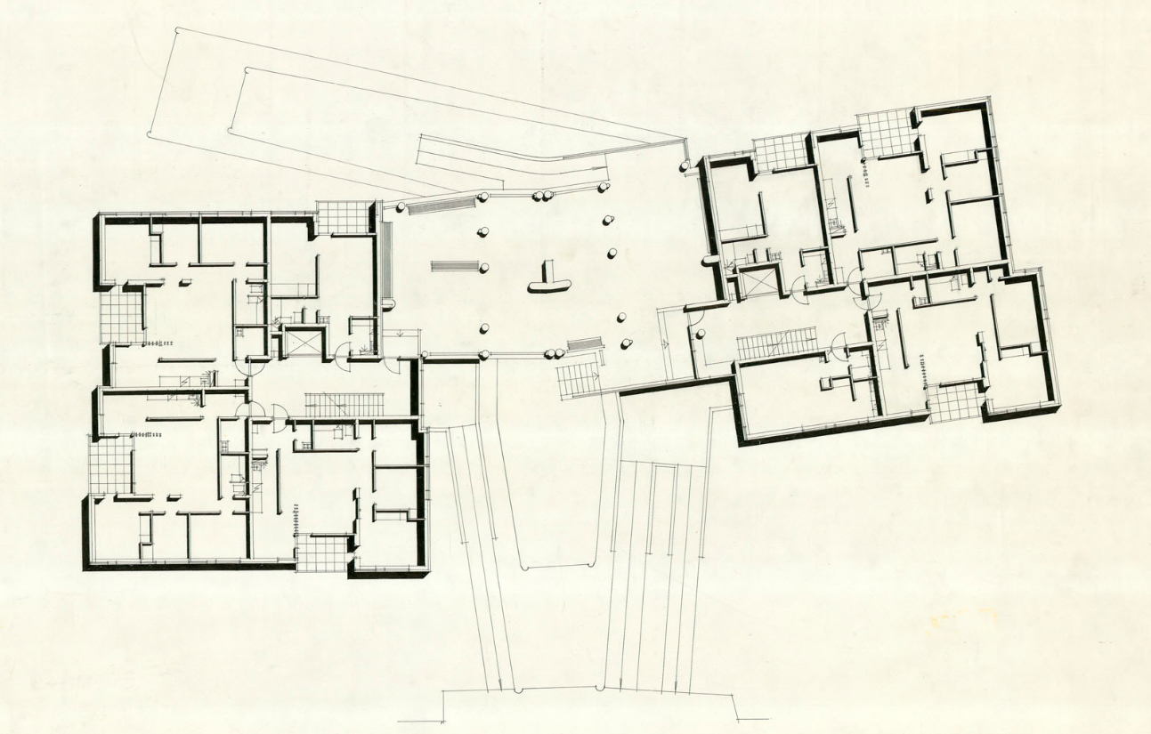 hansaviertel apartment house - Alvar Aalto House Plans
