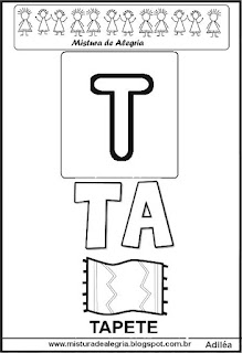 Cartaz das famílias silábicas do T