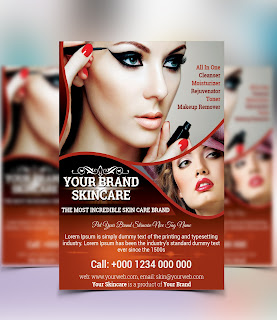 Skincare Beauty Salon Flyer Template