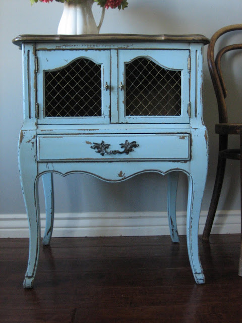 European Paint Finishes Pretty Nightstand