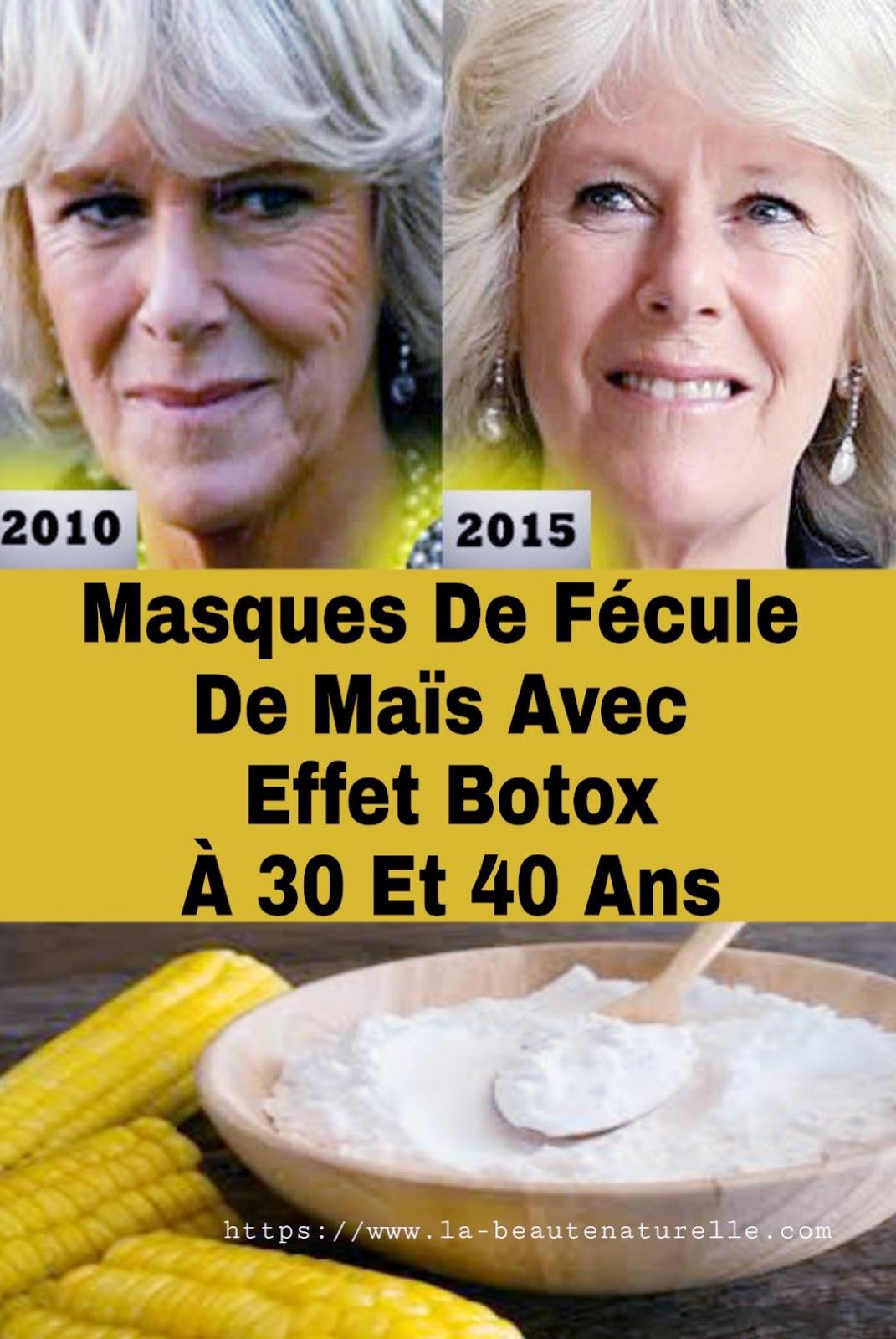 Masques De Fécule De Maïs Avec Effet Botox À 30 Et 40 Ans