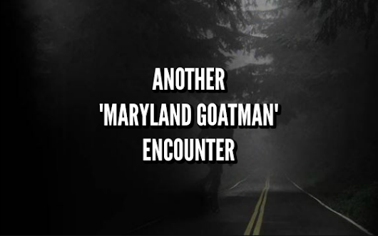 Another 'Maryland Goatman' Encounter