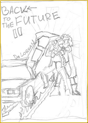Back to the Future 2 sketch poster