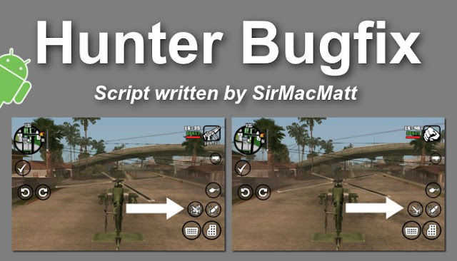 Hunter Helicopter Bug Fix by MacMatt GTAAM
