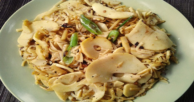 Stir-Fry Bamboo Shoots (Labong) Recipe