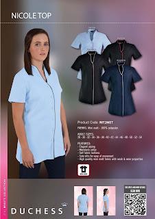 Salon uniforms nicole salon tunic for Spa uniforms johannesburg