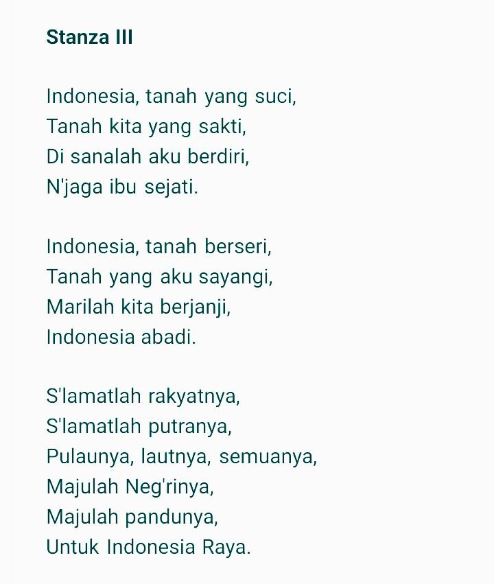 Download Lirik Dan Lagu Indonesia Raya 3 Tiga Stanza Mp3 7pelangi Com