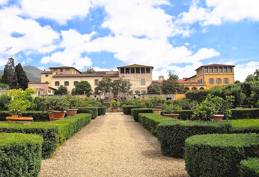 The gardens of Villa La Quiete near Florence