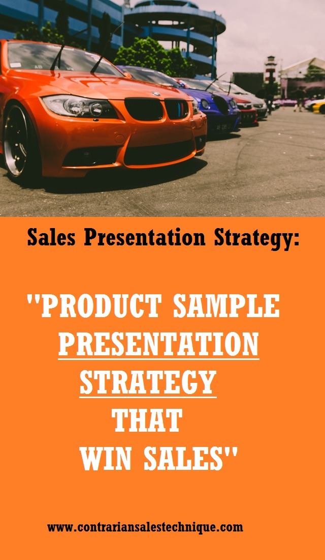 Strategy for presenting product sample