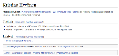 Näyttökaappaus Wikipediasta