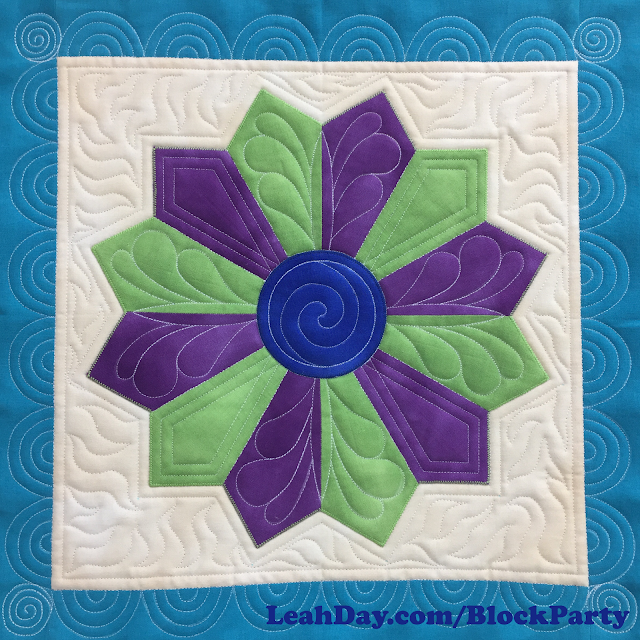 diamond dresden plate quilt block