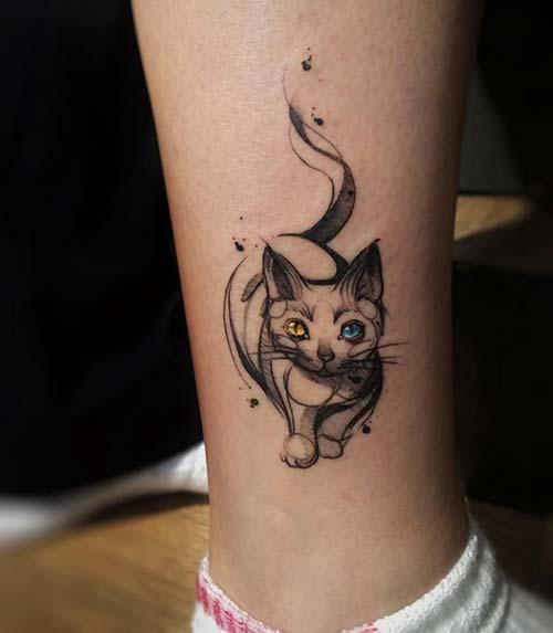 kedi dövmeleri cat tattoos 16